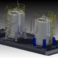 貯槽製作配管工事画像